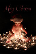 Christ Child Digital Art Prints - Merry Christmas Print by Lisa Evans