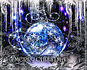 Frost Digital Art - Merry Christmas by Mo T