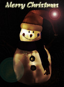 Snowman Photos - Merry Christmas Snowman  by Saija  Lehtonen