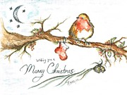 Clear Sky Mixed Media - Merry Christmas by Teresa White
