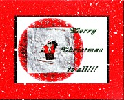 Christmas Eve Mixed Media Prints - Merry Christmas to All Print by Barbara Griffin