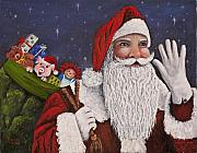 Oil Paintings - Merry Christmas To All by Darice Machel McGuire