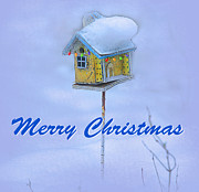 Snow Digital Art - Merry Christmas to you by Jeff Burgess