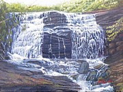 Waterfalls Paintings - Merry Falls by Joseph Kotowski
