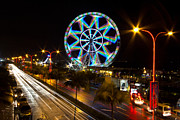 Barrack Obama Metal Prints - Merry Ferris Wheel Metal Print by Troy Espiritu