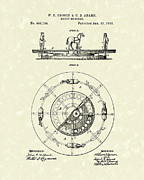 Round Drawings Posters - Merry-Go-Round 1891 Patent Art Poster by Prior Art Design
