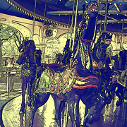 Teresa Jacobs Metal Prints - Merry-Go-Round About Metal Print by Teresa Jacobs