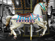 Painted Ponies Art - Merry Go Round by Colleen Kammerer