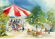 Burnt Sienna Prints - Merry Go Round Print by Pat Katz