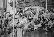 Amusement Park Prints - Merry Go Round Print by Setsiri Silapasuwanchai