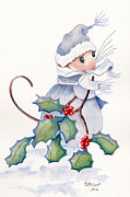 Christmas Greeting Originals - Merry Merry Christmouse by Marsha Elliott