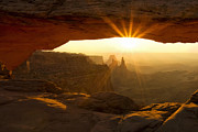 Peaceful Scene Framed Prints - Mesa Arch Sunburst Framed Print by Andrew Soundarajan