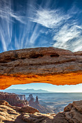 Mesa Arch Posters - Mesa Arch Sunrise Canyonlands National Park in HDR Poster by Pierre Leclerc