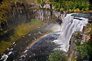 Silk Water Prints - Mesa Falls Print by Robert Bales