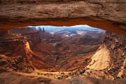Mesa Sunrise Window Print by Darren  White