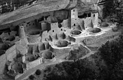Native American Dwellings Prints - Mesa Verde Monochrome Print by Bob Christopher