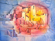 Archeology Paintings - Mesa Verde by Patricia Allingham Carlson