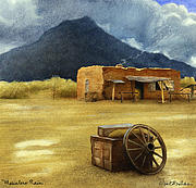 Western Prints - Mescalero Rain... Print by Will Bullas