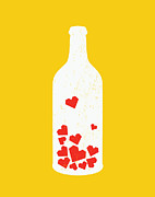 Wine Digital Art Posters - Message in a bottle Poster by Budi Satria Kwan