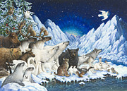 Polar Bears Paintings - Message of Peace by Lynn Bywaters