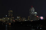 New England Acrylic Prints - Message on Boston Prudential Center for Malcolm Rogers by Juergen Roth