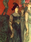 Shadows Paintings - Messalina by  Henri de Toulouse Lautrec
