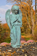 Cemetery Art Photos - Messenger between two worlds by Christine Till