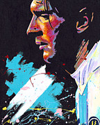 Sports Art Paintings - Messi by Jeff Gomez