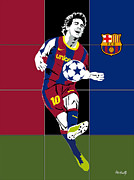 Basket Ball Digital Art Prints - Messi Print by Roby Marelly