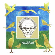 Seagull Mixed Media Framed Prints - Messiaen Framed Print by Paul Helm