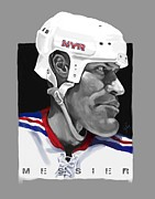 Ny Rangers Framed Prints - Messier Framed Print by Chris Ross