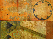 Photo Collage Posters - Metal Abstract Collage Poster by Ann Powell