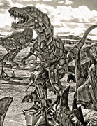 Metal Dinosaurs - 04 Print by Gregory Dyer