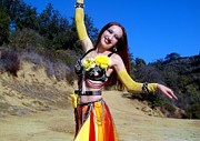 Hot Jewelry - Metal Gypsy fire Sofia belly dance performance by Sofia Gothic Queen of Hell