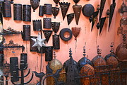 Moroccan Market Prints - Metal Work Marrakesh Print by Sophie Vigneault