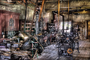 Shops Prints - Metal Worker - Belts and Pullies Print by Mike Savad