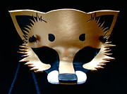 Mask Jewelry - Metallic Gold Fox by Fibi Bell