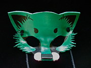 Mask Jewelry - Metallic Green Fox by Fibi Bell