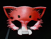 Mask Jewelry - Metallic Red Fox by Fibi Bell