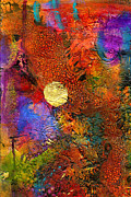 Joy Mixed Media - Metallic Sunset by Angela L Walker