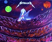 Metallica Paintings - Metallica- Cliff Burton- Bass Player by Michael Rucker