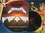 Metallica Painting Framed Prints - Metallica Framed Print by Muriel Dolemieux