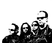 Black And White Prints Originals - Metallica  by Paula Sharlea