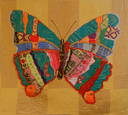 Butterfly Tapestries - Textiles Metal Prints - Metamorphosis Metal Print by Aisha Lumumba