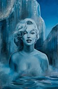 Portrait Of Marilyn Monroe Painting Originals - Metamorphosis of the Diva by Evelyn Astegno