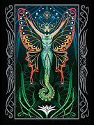 Art Deco Digital Art Posters - Metamorphosis v.2 Poster by Cristina McAllister