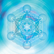 Platonic Digital Art - Metatron Mandala by Soulscapes - Healing Art