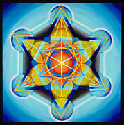 Platonic Solids Framed Prints - Metatrons Cube Framed Print by Morgan  Mandala Manley