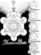 Dodecahedron Prints - Metatrons Cube Print by Stephen Bower