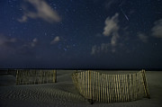 Perseid Metal Prints - Meteor at the Beach Metal Print by Kate Silvia